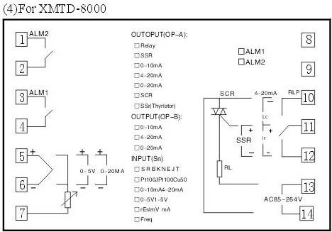 xmtd数显调节仪接线图
