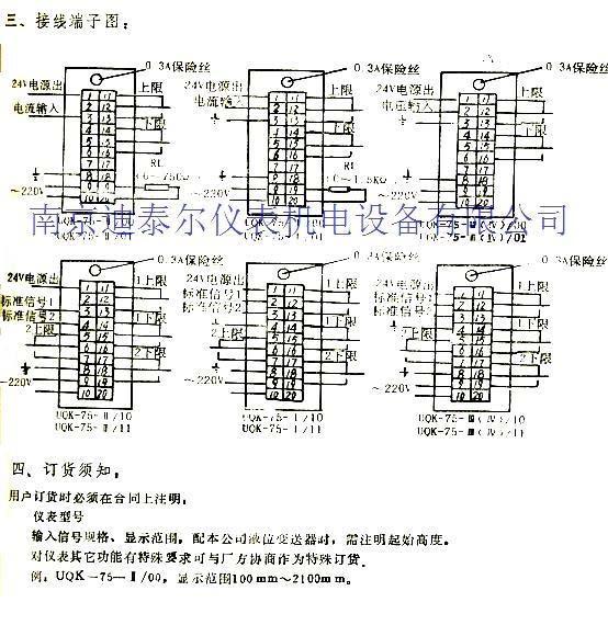 UQK 系列浮球液位控制器 一、用途, UQK 型系列浮球液位控制器适用于工业生产过程中敞开或受压容器内液位控制。当液位到达控制位置时,继电器触点可作为信号报警装置或电动泵等线路中的开关。 二、主要技术参数: 1 : 介质工作压力: 1MPa 2 : 介质最高温度. 150  3 .电源及触点容量: AC220V 1A DCl00V1.